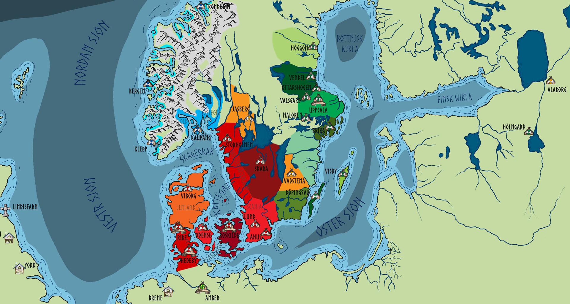 Carte des terres du Nord